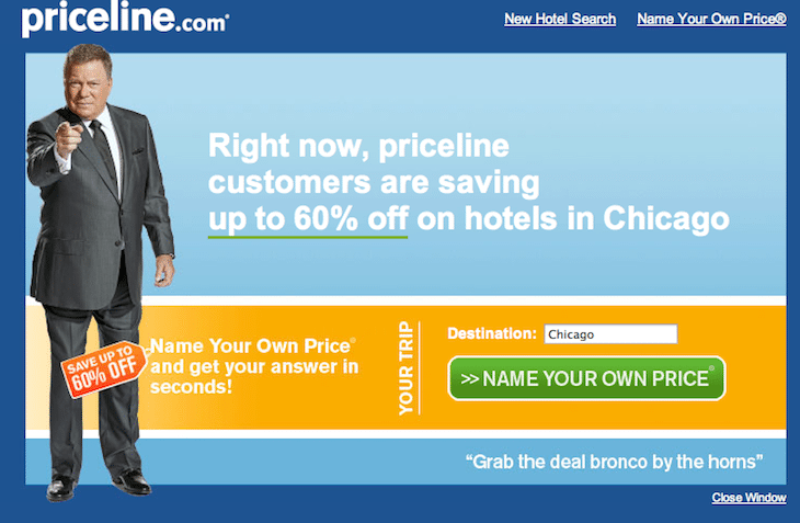 Priceline advertising still giving William Shatner some pop