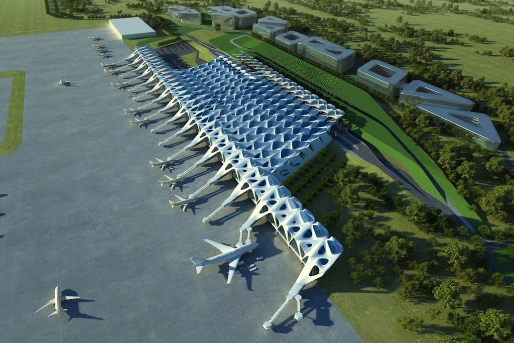 Zaha Hadid's design for the expansion of the Zagreb AIrport in Croatia.