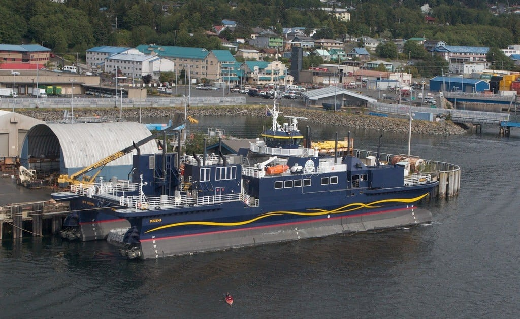 The Susitna Ferry being outfitted in Ketchican, Alaska, in 2010.