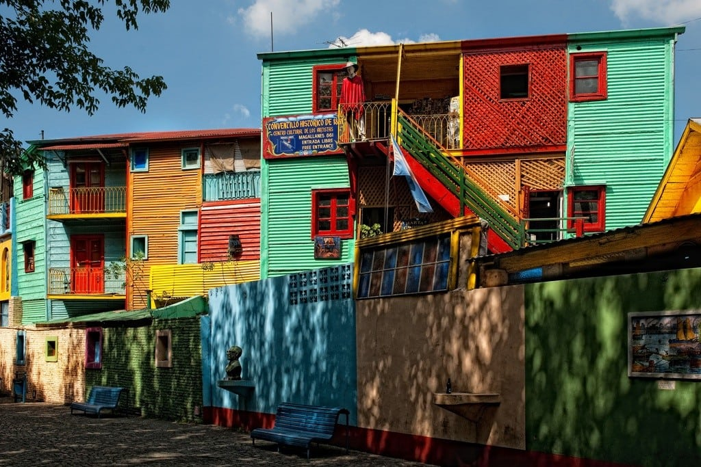 La Boca and its colorful buildings are one of the most popular parts of Buenos Aires among tourists.