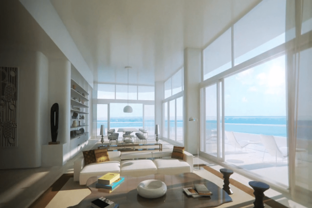 A rendering of the Faena Hotel in Miami, which is the process of being built.