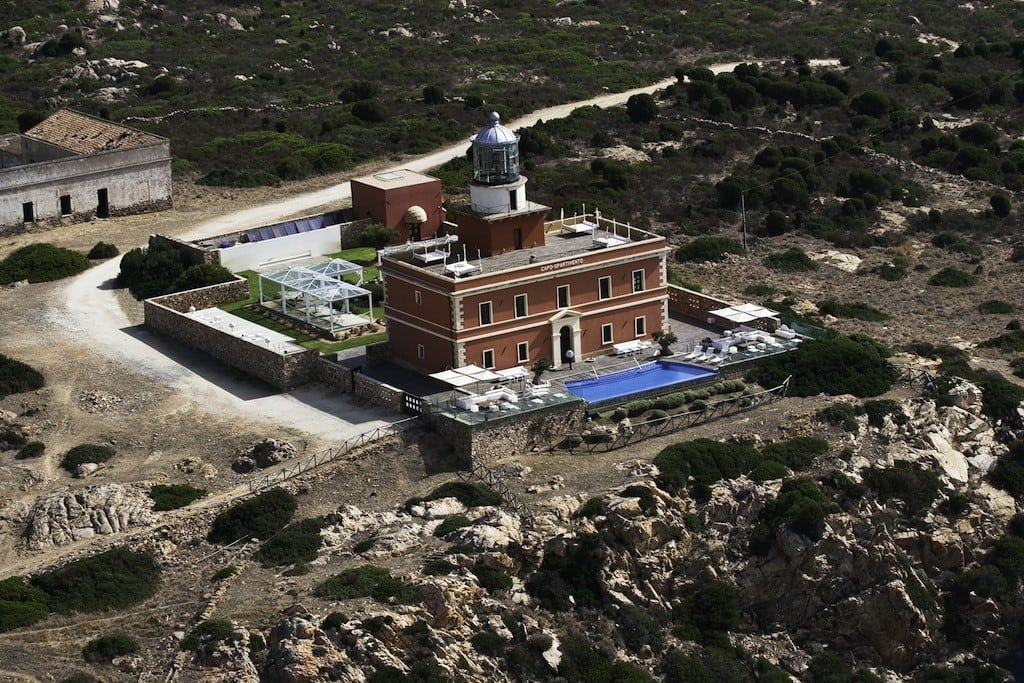 Capo Spartivento is a 19th century lighthouse turned luxurious boutique hotel that sits on a cliff in Sardinia. It costs up to£850 a night in the summer season.