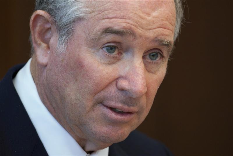 Stephen A. Schwarzman, Chairman, CEO and Co-Founder of the Blackstone Group, speaks during a news conference in Hong Kong October 26, 2012.