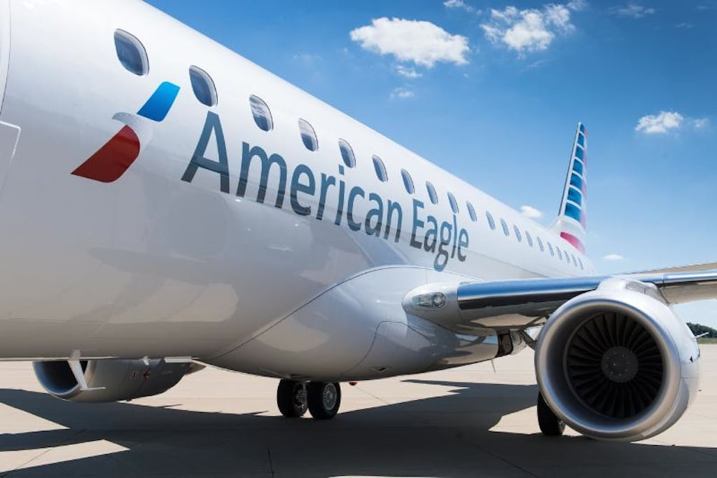 American Airlines begins large regional jet flying with Embraer E-175 aircraft.