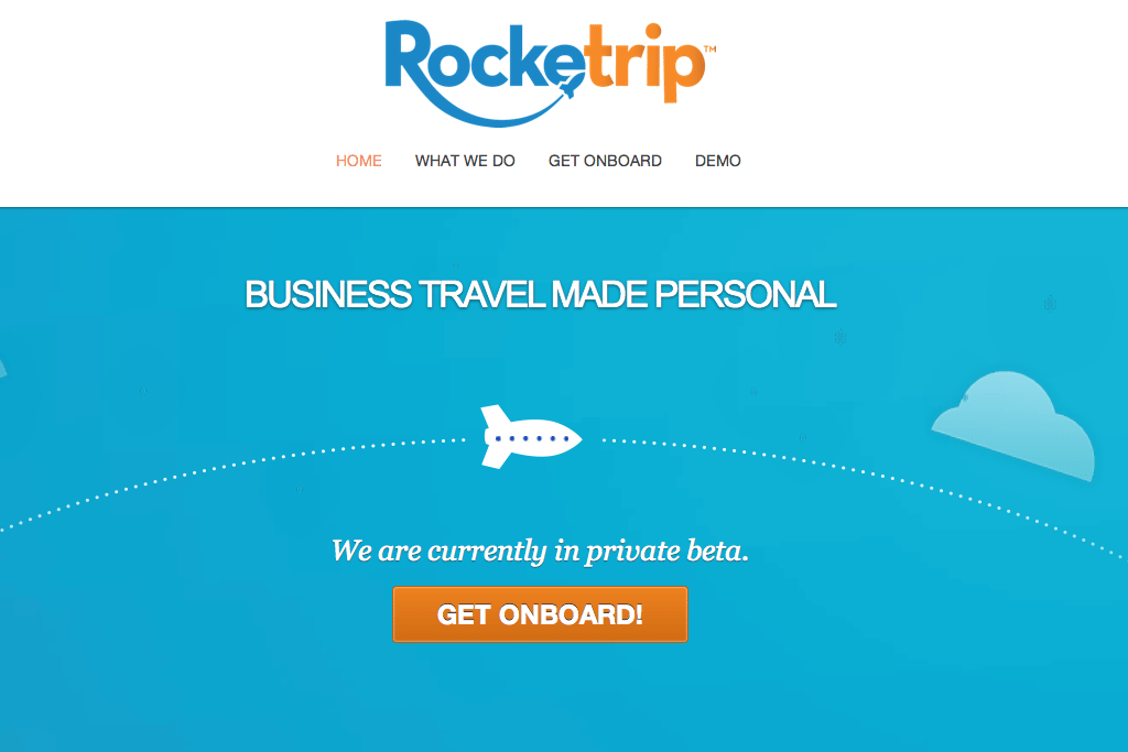 Rocketrip is an incentive-based platform that encourages business travelers to spend within company budgets with a reward and points system.