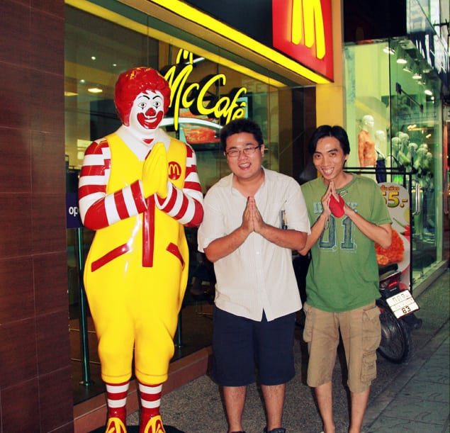 Thai Ronald McDonald is tempting us, so why not??