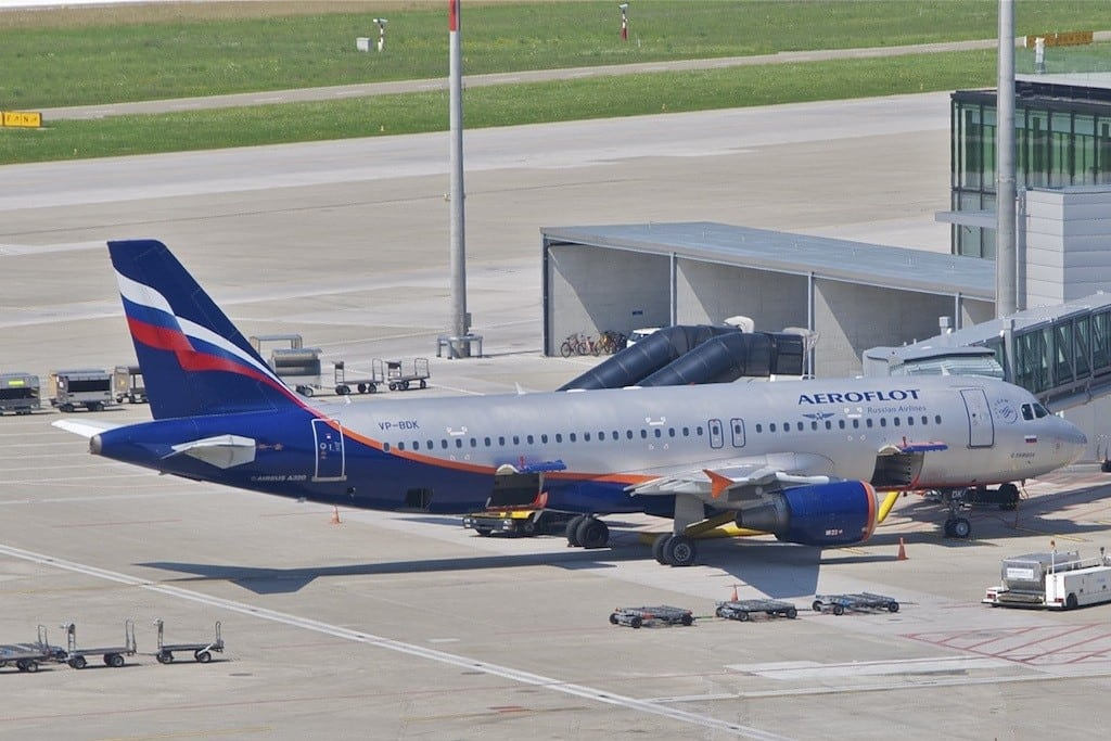 Aeroflot and two other Russian airlines will have to share more information with the U.S. government. Pictured is an Aeroflot Airbus aircraft.