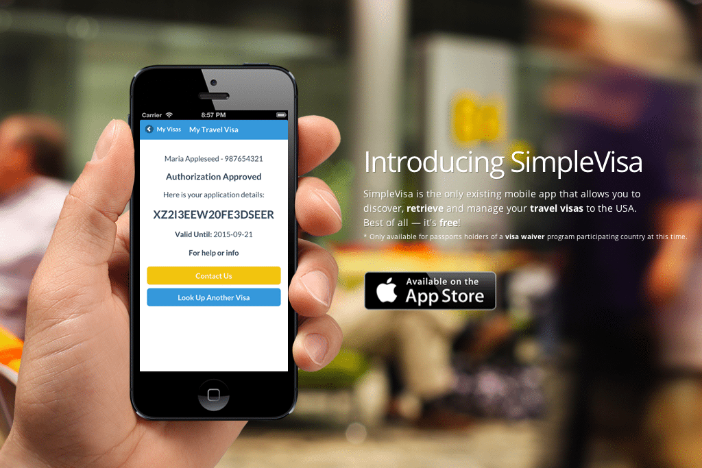 SimpleVisa SimpleVisa is a mobile app that stores U.S. visas for travelers from the 36 countries that participate in the U.S. Visa Waiver Program.