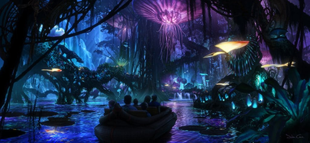 A concept rendering for the new Avatar land at Disney's Animal Kingdom. Photo courtesy Disney