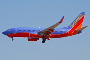 A Southwest Airlines 737