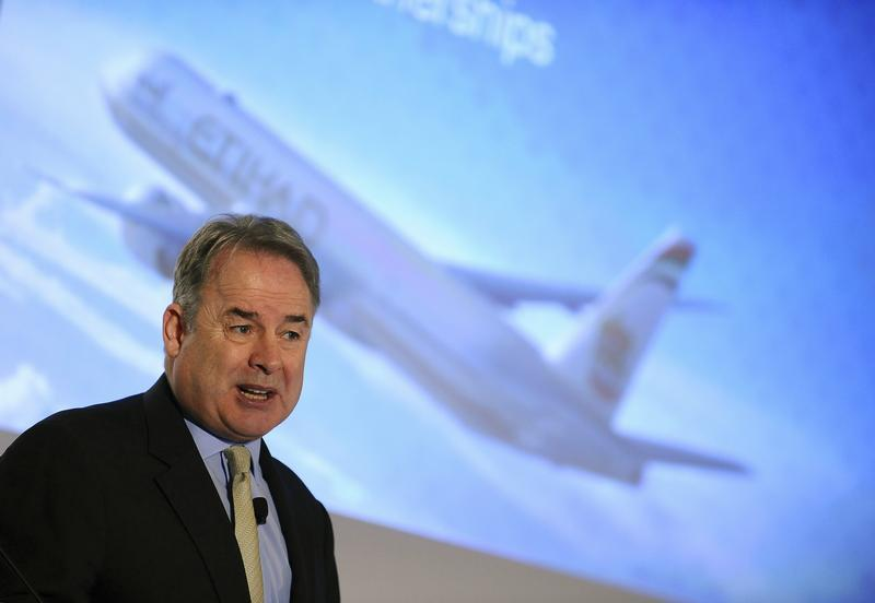 Hogan, Etihad's chief executive, speaks during the World Route Development Strategy Summit in Abu Dhabi.