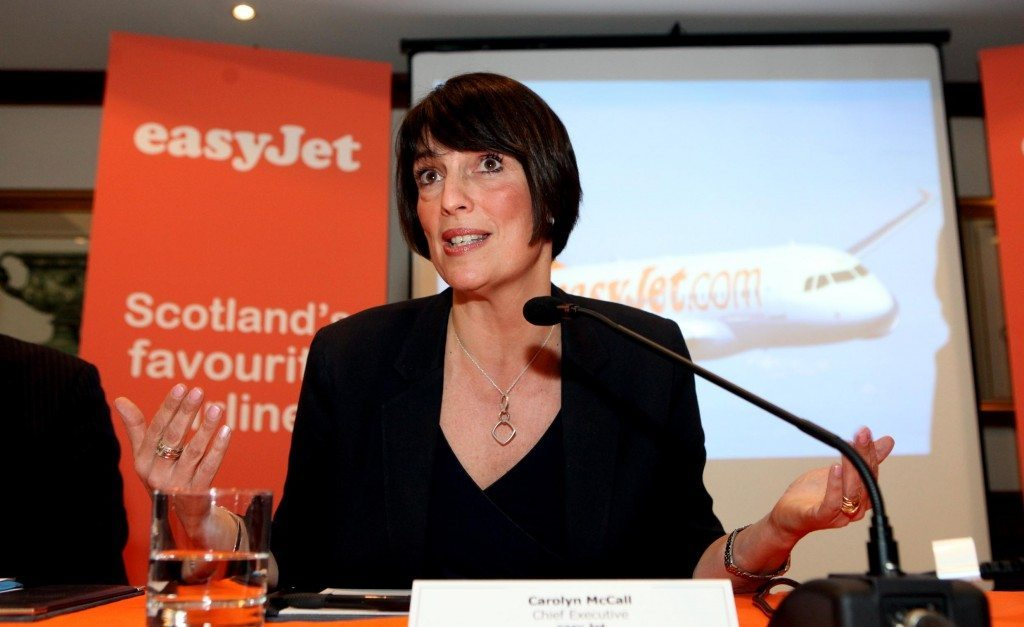 Chief Executive of EasyJet Carolyn McCall, one of the only women CEOs in the airline industry.