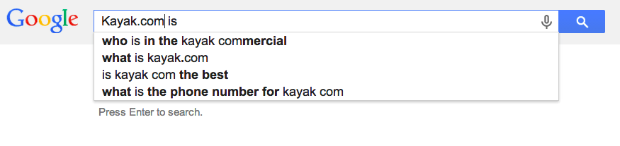 Kayak.com's commercials always seem to be amusing and provocative, and people want to know more.