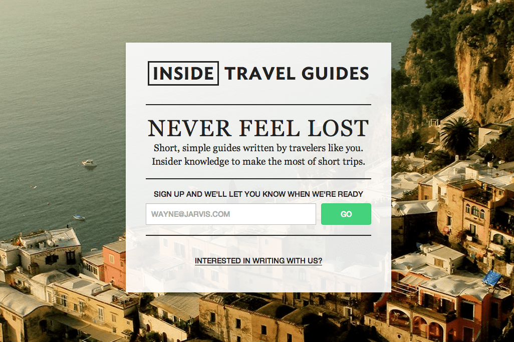 Inside Travel Guides are three-day city guides written by locals. Each guide is $10 and designed to be read on a mobile device.