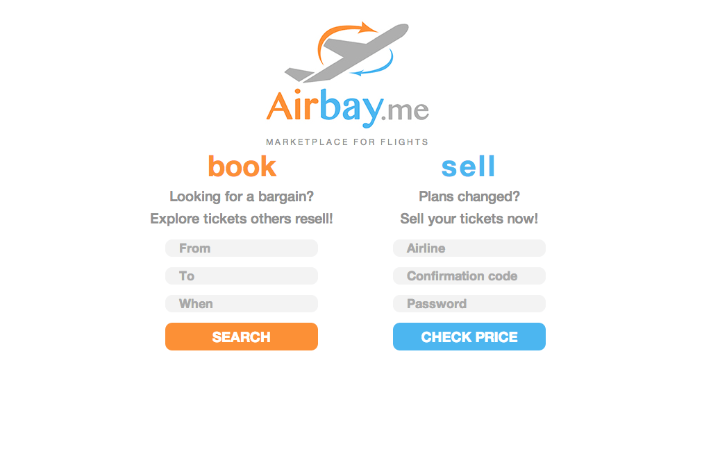 Airbay is a platform for reselling airline tickets that current holders can't receive full refunds for.