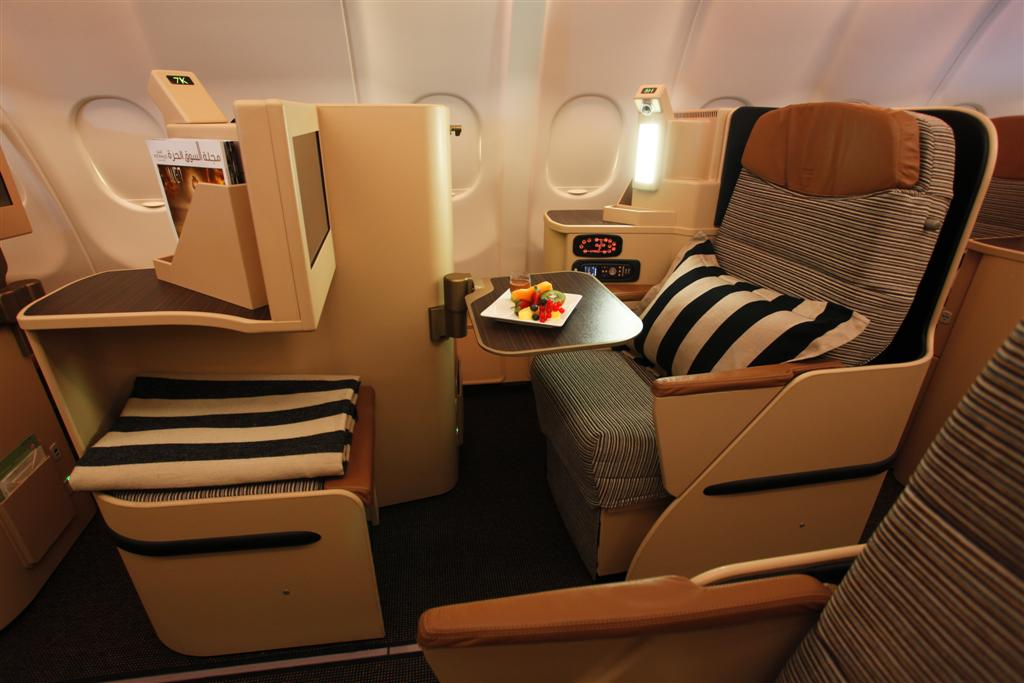 8. Etihad business class seating.