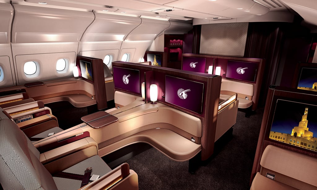 The new first class on Qatar Airways.