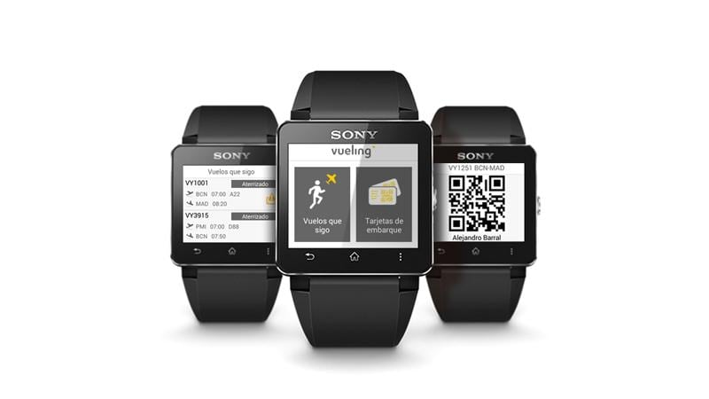 Vueling announces its mobile boarding pass for Sony's Smartwatch 2 in March.
