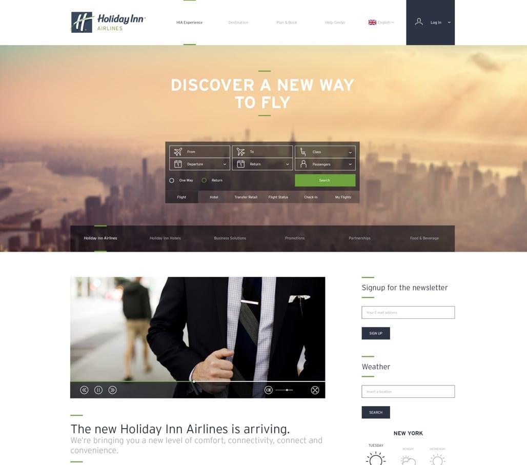 The site design