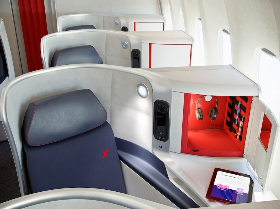 Air France's new business-class seating.