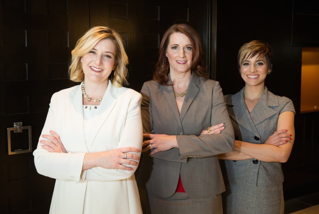 The Cromwell executive team: Eileen Moore, Karie Hall and Melissa Fielding