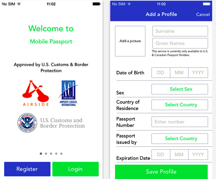 CBP's new mobile passport control app lets Americans and Canadians make customs declarations and bypass long lines at the airport.
