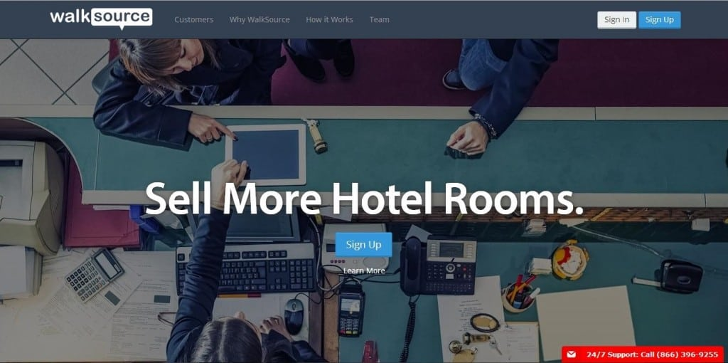 WalkSource helps hotel managers fill rooms.