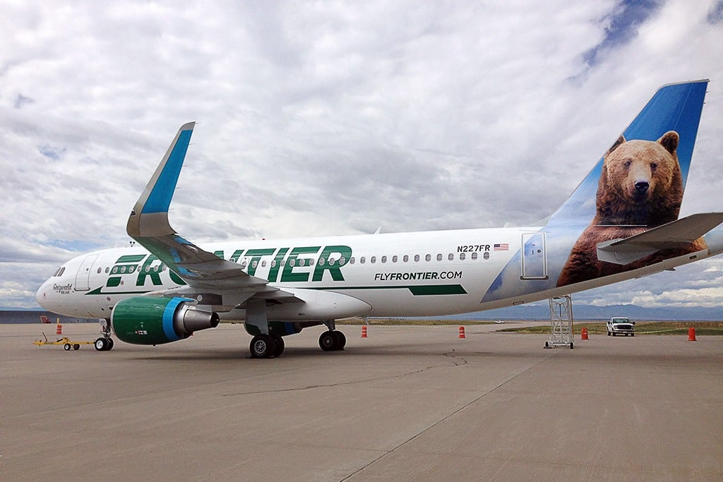 A Frontier plane, shortly after a rebrand last year.