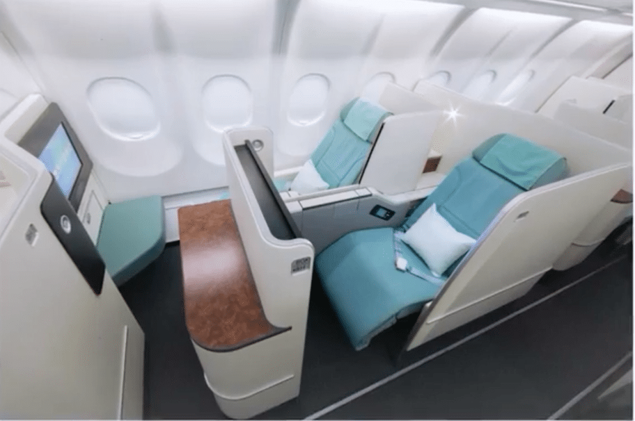 korean air brings a fresh look to business class with new prestige suite u2013 skift
