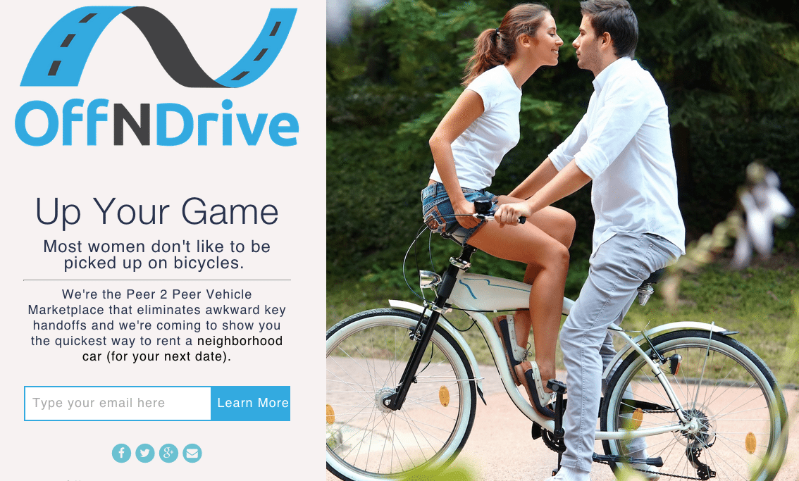 Off N Drive is a peer-to-peer vehicle marketplace that has yet to launch.