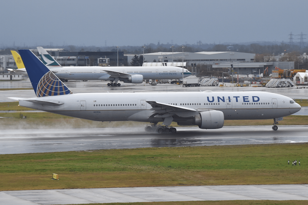 United soon intends to add premium economy on its long-haul airplanes. It's not clear which planes will get it, but the Boeing 777-200 pictured here seems like a good candidate.