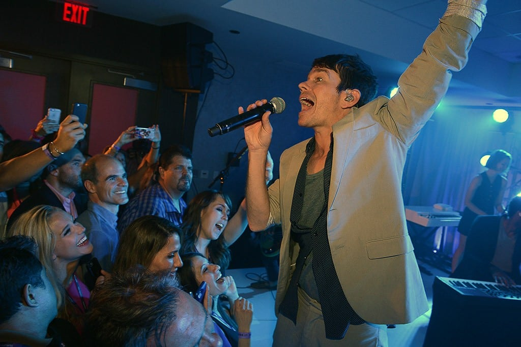 Musician Nate Ruess and guests of Starwood at an experience event for SPG.