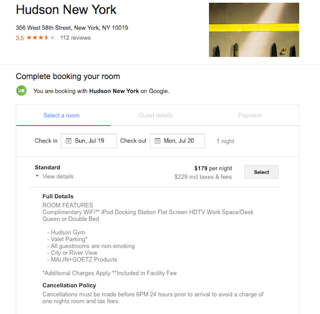 Hotel Hudson New York Booking