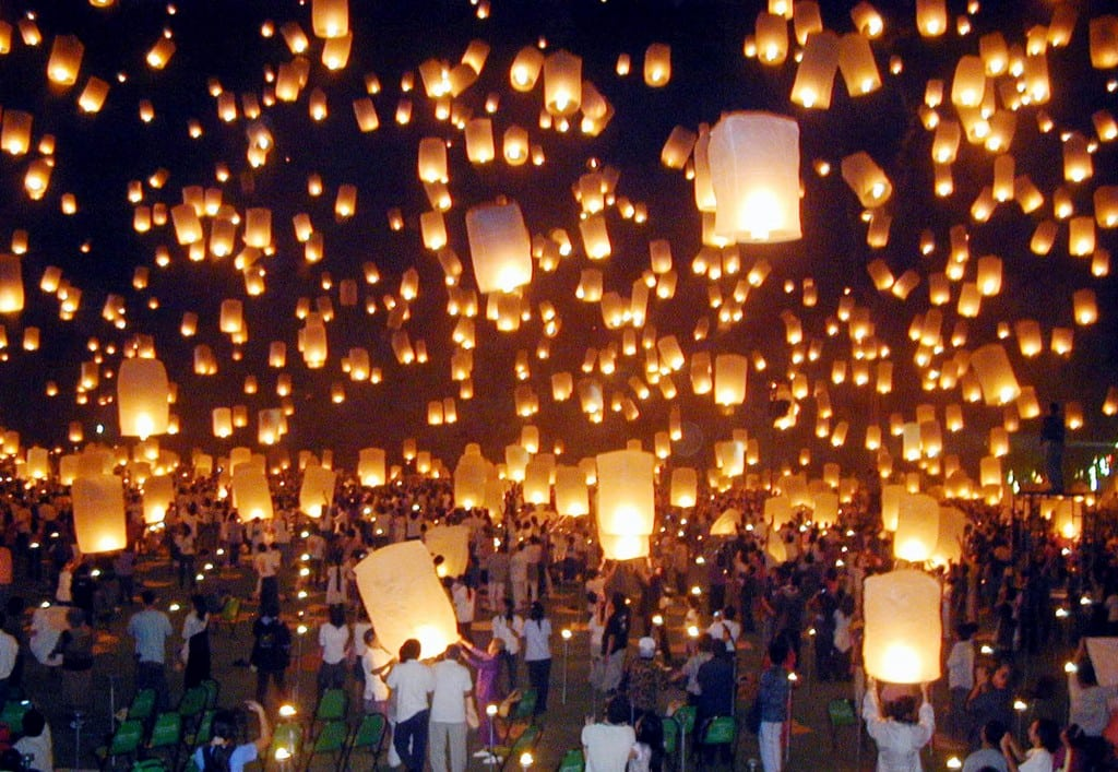 Two airports in northern Thailand said that nearly 150 flights will be canceled or rescheduled during a three-day festival next week when revelers launch lanterns into the sky that can pose danger to airplanes.