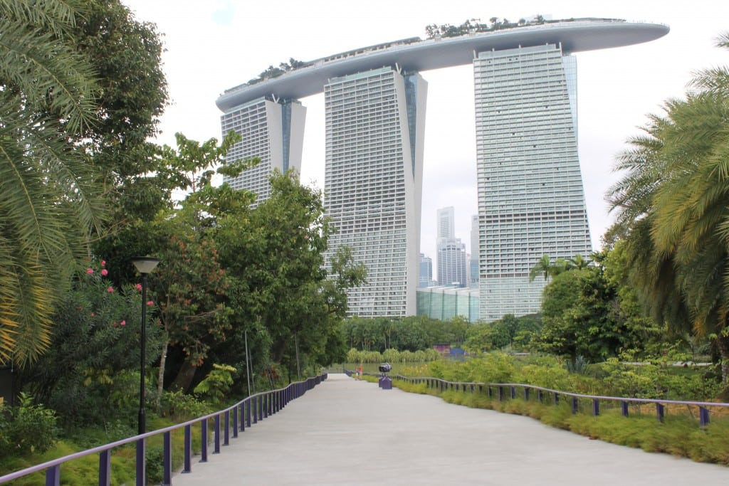 The iconic Marina Bay Sands resort with downtown Singapore behind it. Singapore is one of the biggest hotbeds for travel startups and investment in Southeast Asia.