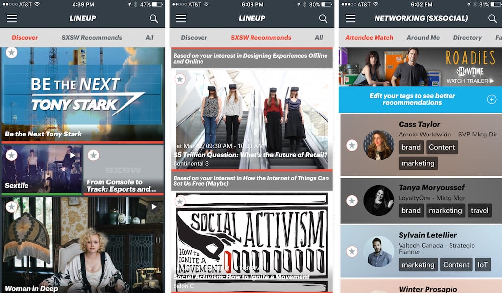 The SXSW Event App Tries to Set a New Standard in Conference Customization