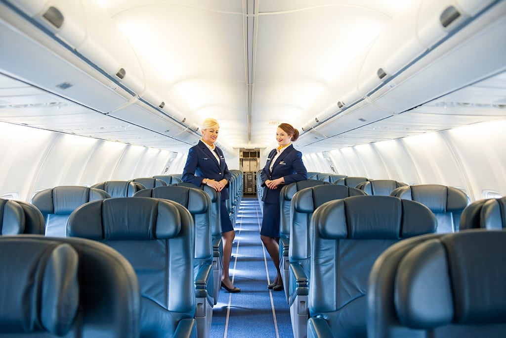 What happens when ryanair meets a corporate jet skift for Interieur avion ryanair