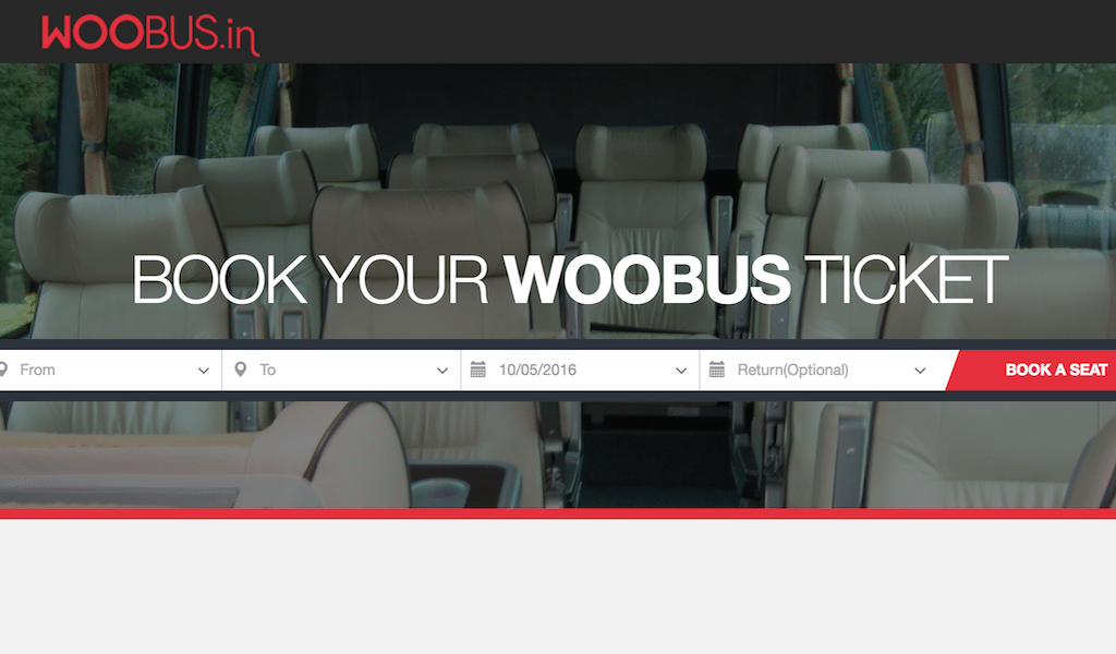 Woobus is a booking site for bus journeys in India.