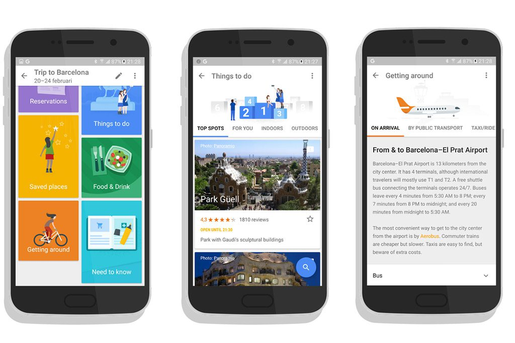 google s new travel app is a mashup of guidebook and tripit skift