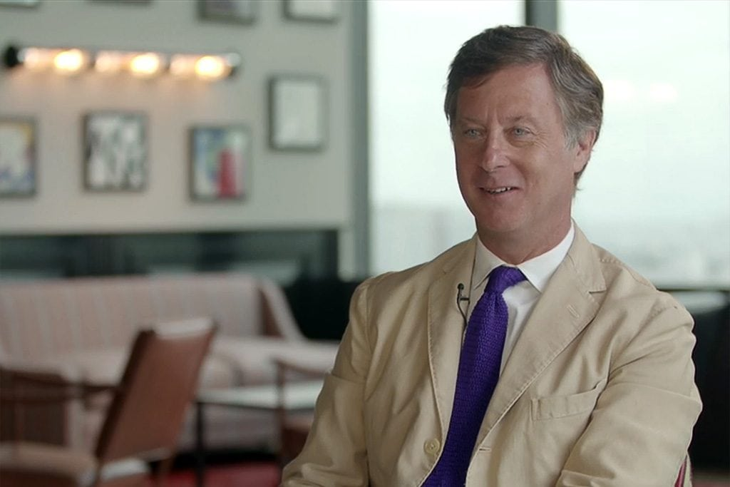 AccorHotels CEO Sebastien Bazin in knows that Airbnb will continue to grow, and feels strongly there needs to be more transparency about the identity of hosts. He's pictured above in a promotional video.