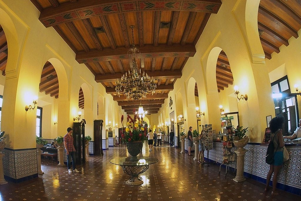 The lobby of the historic Hotel Nacional in Havana, Cuba. The city is seeing a notable increase in visitors.