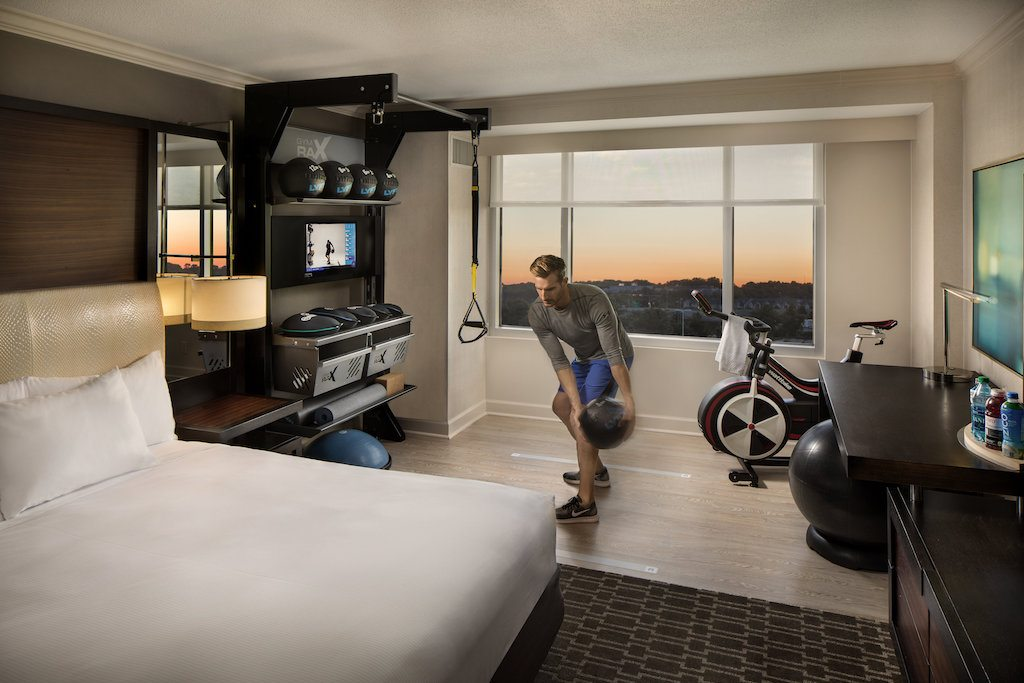 Hilton s new design brings the gym to the guest room u skift