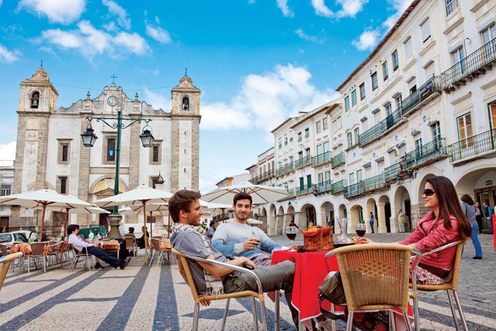Airbnb pledges to contribute monies to community and social groups in Europe. Pictured in Evora, Portugal is Praça do Giraldo, a World Heritage site  and then just wonder about the narrow streets and monuments of this World Heritage Site!  https://goo.gl/pCR6Gt