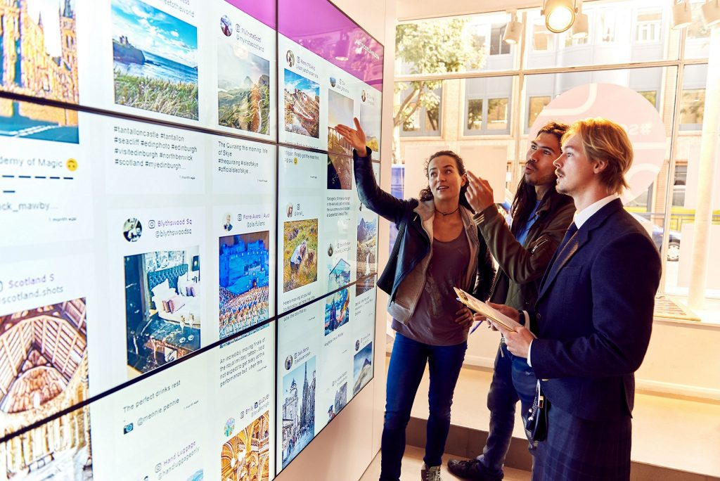 VisitScotland tried out a pop-up, pictured here, in London last week,  to show-off its Instagram images.