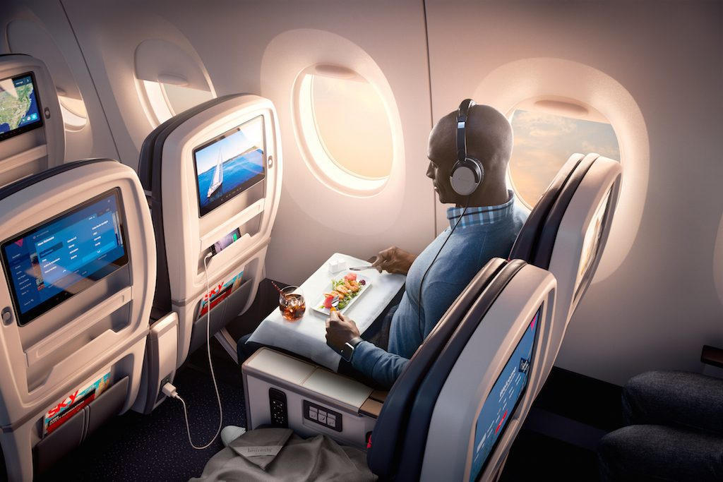Delta's international premium economy section, pictured here, has an 85 percent paid load factor, airline executives said Thursday.