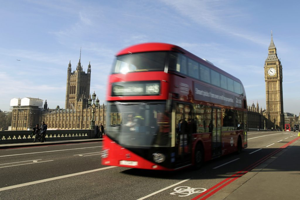 One of the British capital's most iconic old transport designs is the red double-decker bus. A biofuel made by mixing oil extracted from coffee waste with diesel may soon partly fuel buses like this one.