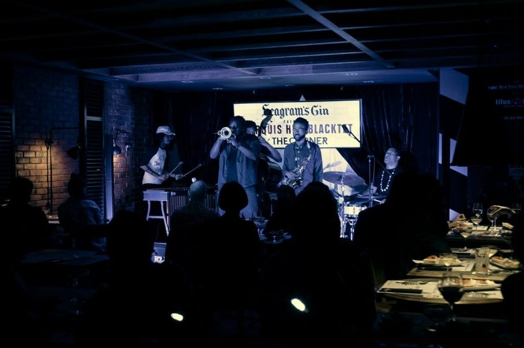 New York's Blue Note Jazz Club was transported to Barcelona as part of a tie-up between The Corner Hotel and Seagram's Gin.