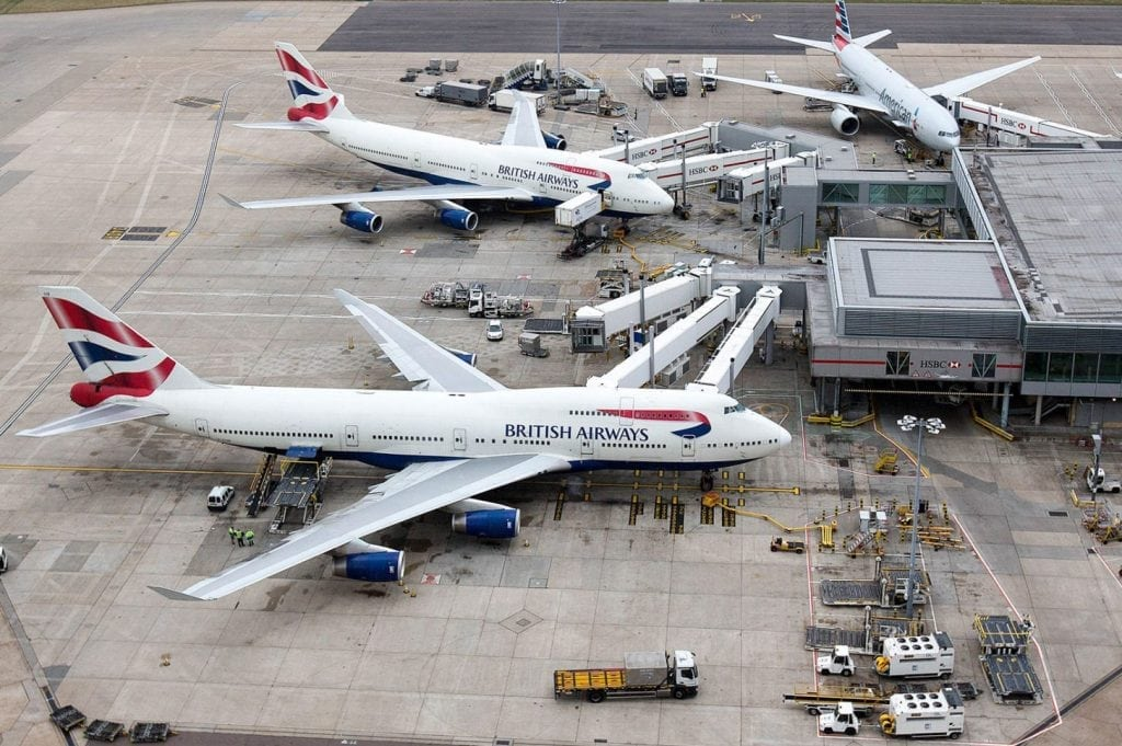British Airways aircraft. A strong performance from European airlines has lifted global profits.