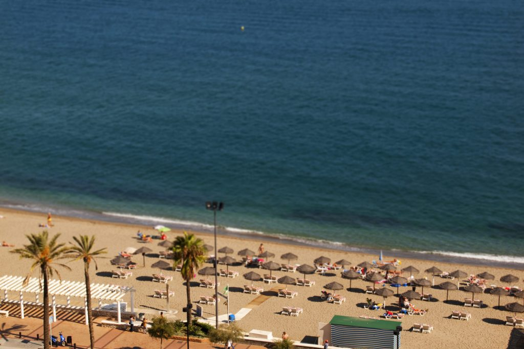 A beach on the Costa del Sol. Spain estimates that 82 million tourists visited the country in 2017.