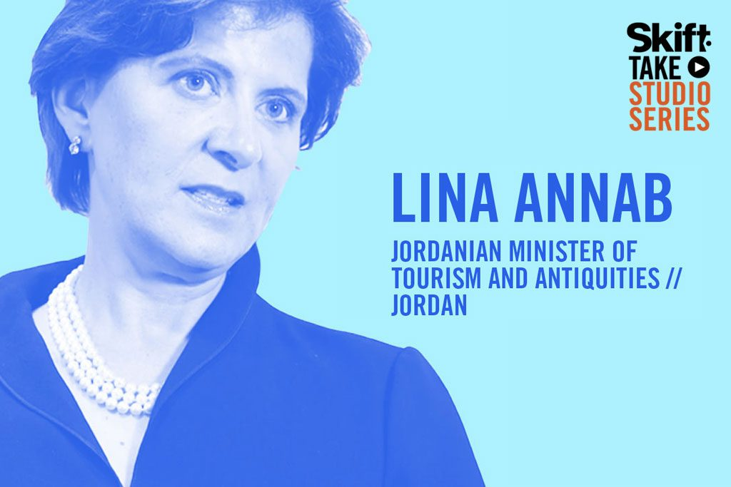 Lina Annab, Jordan's Minister of Tourism and Antiquities, spoke in the Skift Take Studio.